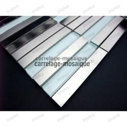 Mosaico acero inoxidable encimera cocina Multi Liner muestra