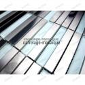 Stainless stell mosaic splashback kitchen Multi liner sample