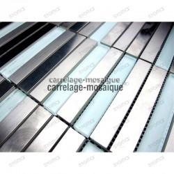 Mosaique credence cuisine inox Multi liner echantillon