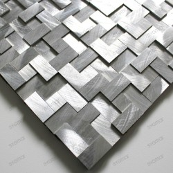 Aluminium mosaic for splashback worktop kitchen Konik sample