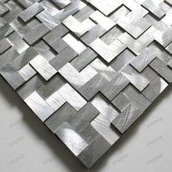 Mosaico de Aluminio para cocina y banos Konik muestra mosaico