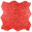 glass mosaic floor shower wall bathroom Osmose Rouge sample