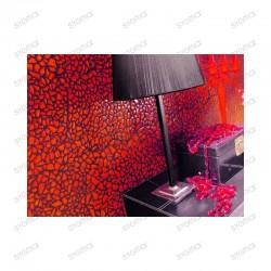 Mosaique de verre salle de bain osmose rouge echantillon