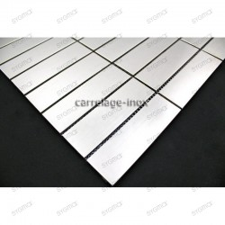 Stainless stell mosaic for kitchen splashback rectangular 98 sample