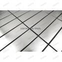 Mosaico de acero inoxidable para encimera cocina rectangular 98 muestra