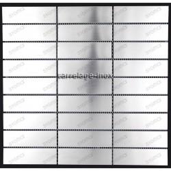 Mosaique inox credence cuisine echantillon rectangular 98