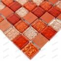 Aluminium mosaic sample for splashback worktop Nomade Orange