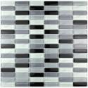 Mosaique de verre douche italienne rectangular noir echantillon
