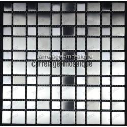 Stainless stell mosaic kitchen splashback Mosaic compo sample