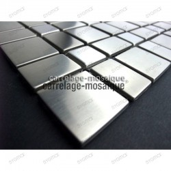 Stainless stell mosaic kitchen splashback Mosaic compo sample