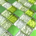 Aluminium mosaic sample for splashback worktop Nomade Orange