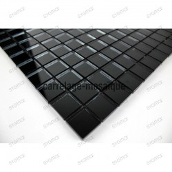 Mosaic for italian shower sample glass mosaic reflect noir