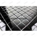 Mosaico vidrio cuarto bano muestra mosaico reflect noir