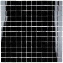 Mosaic for italian shower sample glass mosaic reflect noir