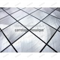 Aluminium mosaic for splashback kitchen worktop Alu 48 sample