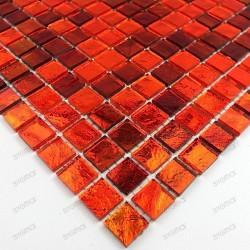 Mosaico cocina y ducha muestra gloss orange
