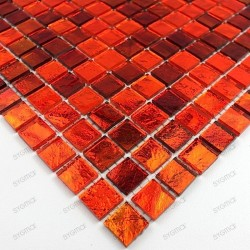 echantillon - verre - Gloss orange