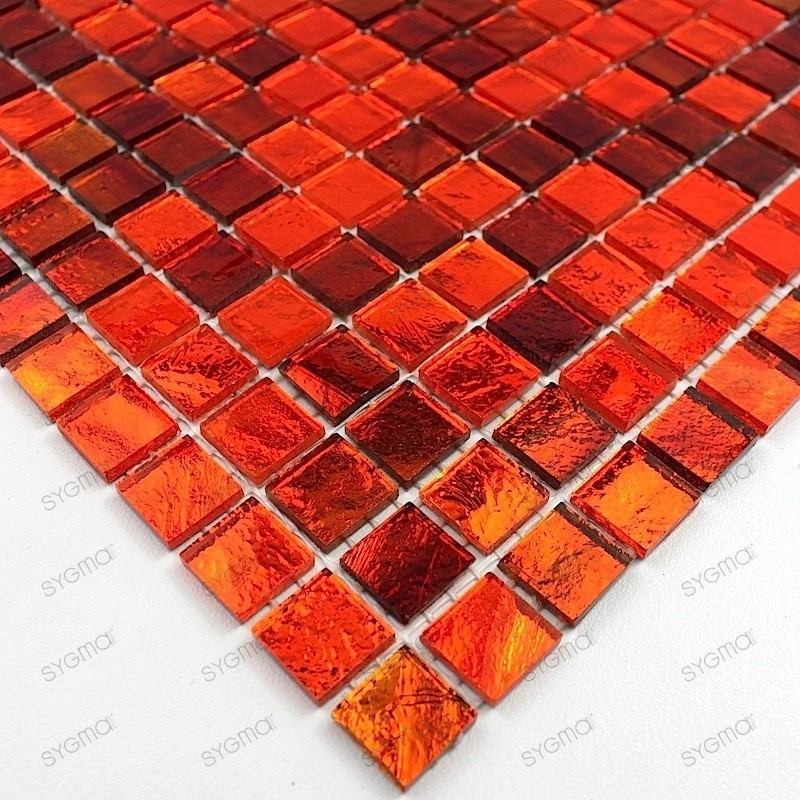 echantillon verre gloss orange carrelage mosaique. Black Bedroom Furniture Sets. Home Design Ideas
