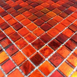 Mosaique salle de bain et douche echantillon gloss orange