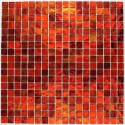 Glass mosaic sample for italian shower bathrrom gloss orange