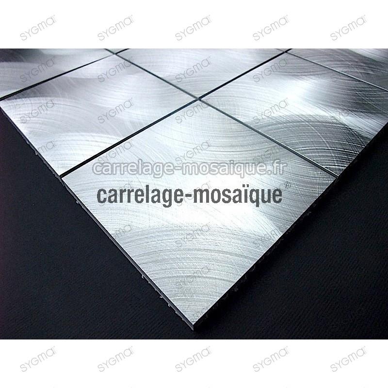 Aluminium mosaic for splashbackand  worktop sample alu 98