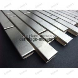 Mosaico de acero inoxidable para cocina y ducha muestra mixte 98