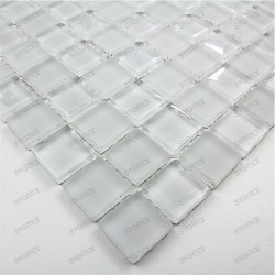 Glass mosaic shower bathrrom sample mat blanc 23