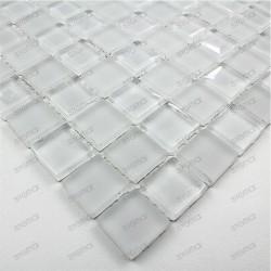 Mosaico de vidrio ducha y banos muestra mat blanc 23