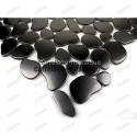 carrelage inox douche italienne echantillon galet noir