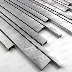 Carrelage aluminium credence cuisine echantillon phantom