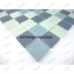 glass mosaic for floor shower sample mat gris