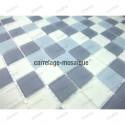 mosaico de vidrio para ducha italiana mat gris
