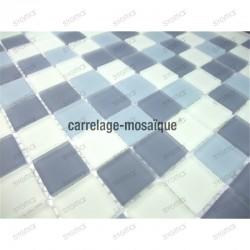 mosaique salle de bain et douche echantillon mat gris