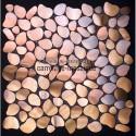 Mosaico de acero para cocina y ducha galet cuivre muestra