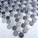 Mosaico de Aluminio muestra circle gris
