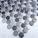 Mosaique cuisine et douche echantillon circle gris