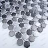Aluminium mosaic sample splashback kitchen circle gris
