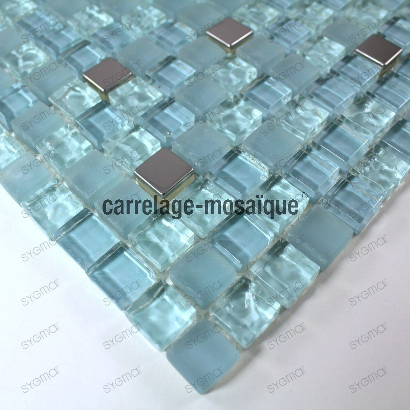 muestra mosaico vidrio ducha italiana Harris bleu