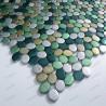 Mosaico de Aluminio muestra para cocina y banos oval vert
