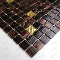Mosaico pasta de vidrio de cocina muestra goldline vogue