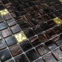 Glass mosaic sample for italian shower goldline vogue