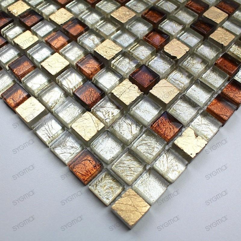 Mosaico de piedra y vidrio para banos y ducha Siam muetsra
