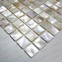 Mosaique douche italienne nacre Odyssee blanc ech