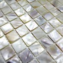 Mother of pearl mosaic sample Odyssee blanc