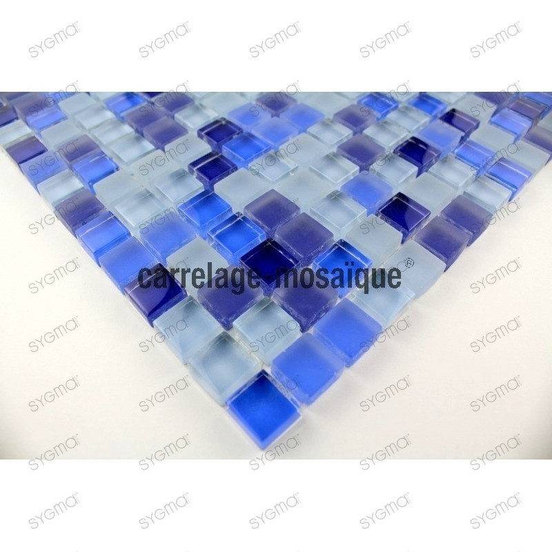 Glass mosaic sample for italian shower Iris