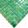 Glass mosaic sample for italian shower Rainbow Jade