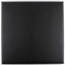 Panneaux simili cuir 30 x 30cm noir pour tete de lit