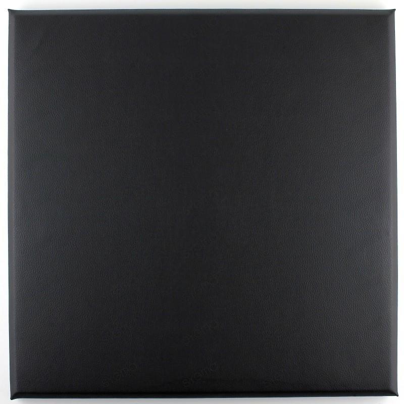 Faux leather panels 30 x 30 cm noir