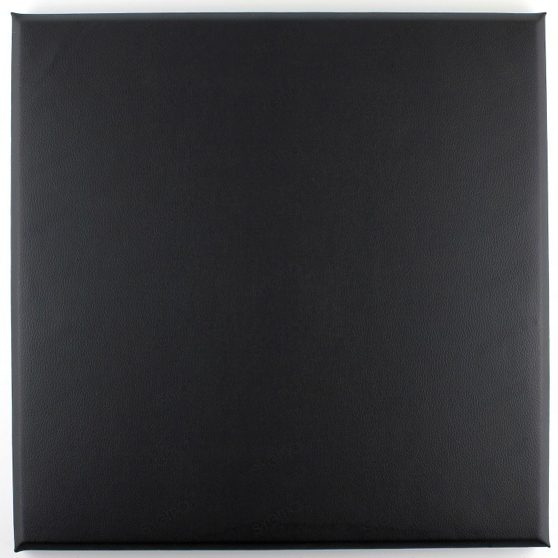 Panneaux simili cuir tete de lit 30 x 30cm noir