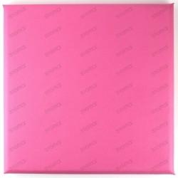 Panneaux simili cuir 30 x 30 cm rose pour tete de lit